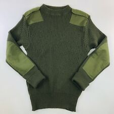 DSCP Valor Collection Sweater Military Green Wool 40 Elbow Shoulder Patch EUC