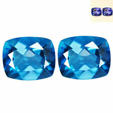 9.13 Cts 11x9 PAIR Natural Color Change FLOURITE for Jewelry Setting Cushion Cut