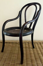 Antique Bend-wood Salesman Sample Wooden Chair w/ Cane Seat, Possibly Thonet Co.
