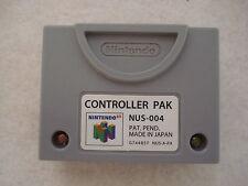 NINTENDO 64 CONTROLLER PAK NUS-004 MEMORY CARD ORIGINAL -NO CHINO- MAGNIFICO N64