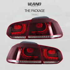VLAND LED Tail Lights For VW GOLF MK6 GTI R 2010-2014 Cherry Red Rear Light