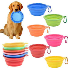 Pet Dog Cat Bowl Portable Folding Travel Camping Food Water Puppy Silicone Bowls