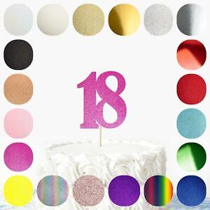 Bold Glitter Card Cake Topper 1 3 4 11 12 13 14 16 18 21 30 40 50 60 70 80 etc