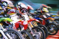 Motocross Racing in Action Photo Art Print Poster 18x12