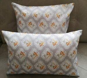 Disney's Bambi & Thumper Grey Diamond Print Cushion - 2 sizes available