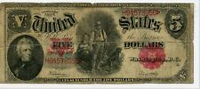 "1907 $5 LARGE SIZE LEGAL TENDER ""WOODCHOPPER NOTE"" FINE"