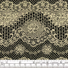 Cotton Fabric FQ Retro Cream Floral Lace Printed Dress Quilting Patchwork VK19