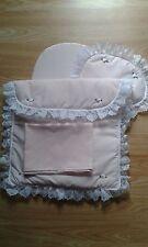 Bedding Quilt Pillow Sheet & Mattress Mamas & Papas Junior X-cel Dolls Pram Pink