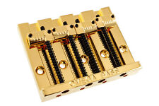 NEW Omega Badass Bass Style BRIDGE for Fender P Jazz Bass GROOVED SADDLES Gold
