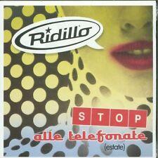 Ridillo - Stop Alle Telefonate 2 Track Promo Cardsleeve Cd Sigillato
