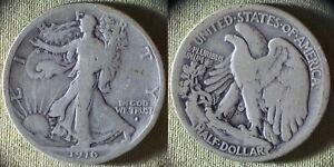 Liberty Walking Half : 1916-S VG+ IRUS375