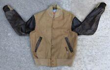 Reebok Men's Vintage 80s 90s Wool Letterman Jacket Coat Retro Size Small