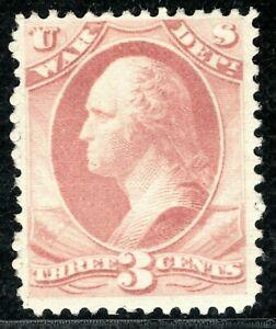 USA Official Stamp Scott.O85 3c Rose *WAR DEPT* (1873) Mint MNG Cat $90 GREEN85