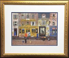 """""""AU MOULIN De PARIS"""" Michel Delacroix NEWLY Custom Framed Stone Lithograph Art"""