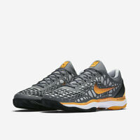 NIKE AIR ZOOM CAGE 3 CLAY Scarpe TENNIS Uomo COOL GREY ORANGE 918192 003