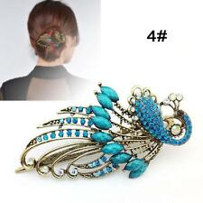 New Blue Women Retro Crystal Peacock Hairpins Hair Stick Hair Clip Jewelry 4# #M