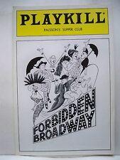 FORBIDDEN BROADWAY Playbill BARBARA WALSH / ROXIE LUCAS / CRAIG WELLS NYC 1987