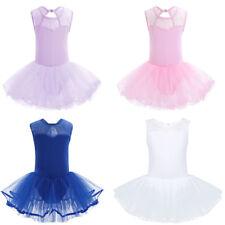 Vestido Maillot de Ballet Niñas Leotardo de Gimnasia Tutu Traje Bailarina Ballet