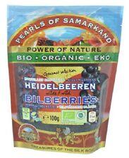 Pearls Of Samarkand Organic Wild Blueberries (Bilberries) 100G (Pack of 3)