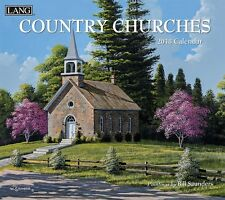 COUNTRY CHURCHES - 2018 DELUXE WALL CALENDAR - BRAND NEW - LANG ART SCENIC 1904