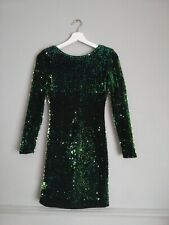 Motel Rocks Sequin Dress Festival Christmas  Formal Size Xs lbd green sequins