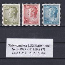 3  timbres du LUXEMBOURG Neufs de 1975 Série complète  très bon état