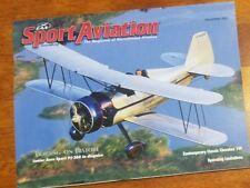 Sport Aviation Magazine December 2001 EAA Senior Aero Sport PJ-260 homebuilders
