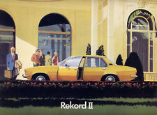 Catalogue brochure prospekt Opel Rekord D (Rekord II) français 1973