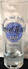 "Hard Rock Cafe Dubai 4"" Shot Glass Save The Planet Stp Hrc Logo Blue Marble"