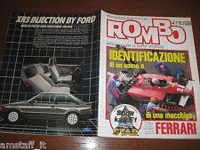 RIVISTA ROMBO 1982/47=FERRARI=PUBBLICITA' FORD XR3=