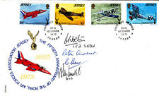 50th Anniv The  Royal Air Force Association Jersey Signed 4 Battle of Britain