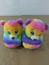 2c251fb7452 Build A Bear Character Slippers Kids Size Large 4-5 Multicolor Bear soft A1
