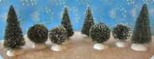 Dept 56 Heritage Village Frosted Topiary Trees Set 8 Pc ~ Mint in Box!