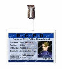Resident Evil ID Badge Leon S. Kennedy Raccoon Police Cosplay Prop Christmas
