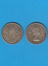 Amérique du Nord CANADA Elisabeth II  50 Cents  argent 1957 Silver coin