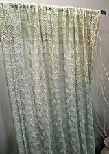 2 Sets  Of  2 Panels  Lace  Semi-Sheer Curtains Mint Color