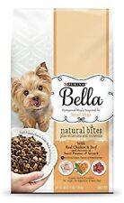 Purina Bella Natural Small Breed Dry Dog Food Natural Bites Real Chicken 3 Lb