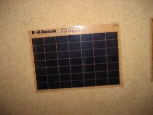 Kawasaki Z 400 D 3 Motor Catálogo de Piezas Repuesto Microfichas Microfilm