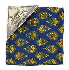 Tootal Vintage Blue lágrima cuadrado de bolsillo de impresión