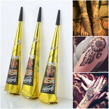 100% Pure Black Indian Henna Temporary Tattoo Cones Mehndi Body Art Paint Paste