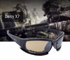 Daisy X7 Military Goggles Bullet-Proof Army Sunglasses Eyewear Gafas w/4 Lenses