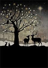 Bug Art Christmas Greeting Card - CHRISTMAS WOODLAND - BA-X-MC039