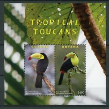 Guyana 2017 MNH Tropical Toucans 2v S/S Toucan Birds Stamps