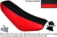 BLACK & RED CUSTOM FITS STOMP CRF 70 LEATHER SEAT COVER ONLY