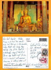 THAILAND   POSTCARD STAMP  THE BUDDHA  IMAGES WAT CHIANG MAN - CHIANG MAI