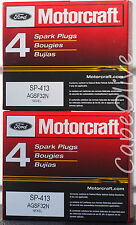 8 PCS – Motorcraft SP-413  Nickel Spark Plugs  (AGSF-32N)