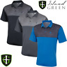 ISLAND GREEN MENS CONTRAST PANEL PERFORMANCE GOLF POLO SHIRT @ 50% OFF RRP