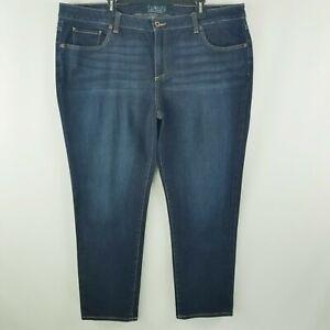 Lucky Brand 22W Ginger Skinny Dark Blue Wash High Rise Women's Jeans
