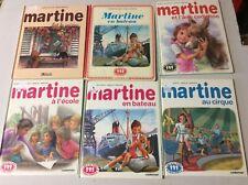 Lot 6 livres Martine