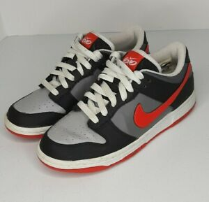 Nike Dunk Low 6.0 Jr. Youth Sz 5 Women's 6.5 - 7 Gray Red Amazing! Rare